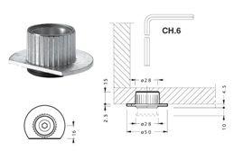 Ножка мебельная Ножка врезная с металлическим подпятником, цинк Крепика дом крепежных материалов