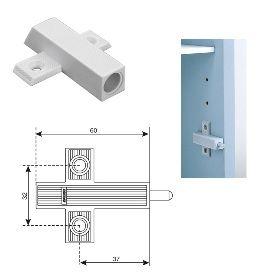 Амортизатор мебельный Адаптер для Smove, крепление под шуруп, серый Крепика дом крепежных материалов
