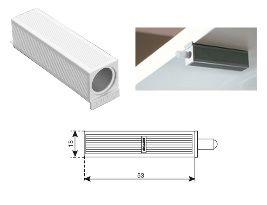 Амортизатор мебельный Адаптер для Smove, крепление самоклеящееся, серый Крепика дом крепежных материалов