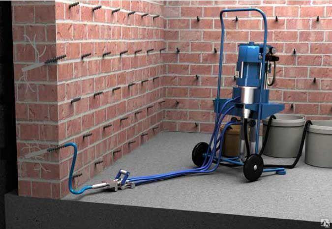 Инъектирование бетона оборудование купить цементный раствор м50 характеристика