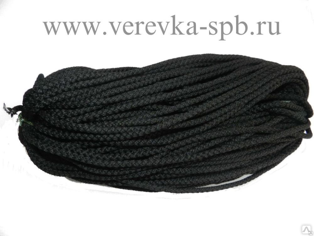 шнур полиэфирный 5 мм для вязания черный цена в санкт
